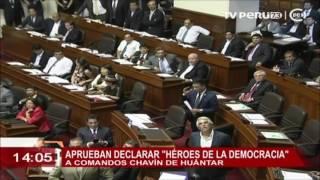 Pleno del Congreso declaró 'Héroes de la democracia' a miembros del comando 'Chavín de Huántar'