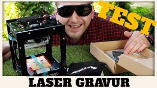 LASER GRAVUR MASCHINE  Deutsch Test Review ( MEGA GEIL ! ) 1500Mw