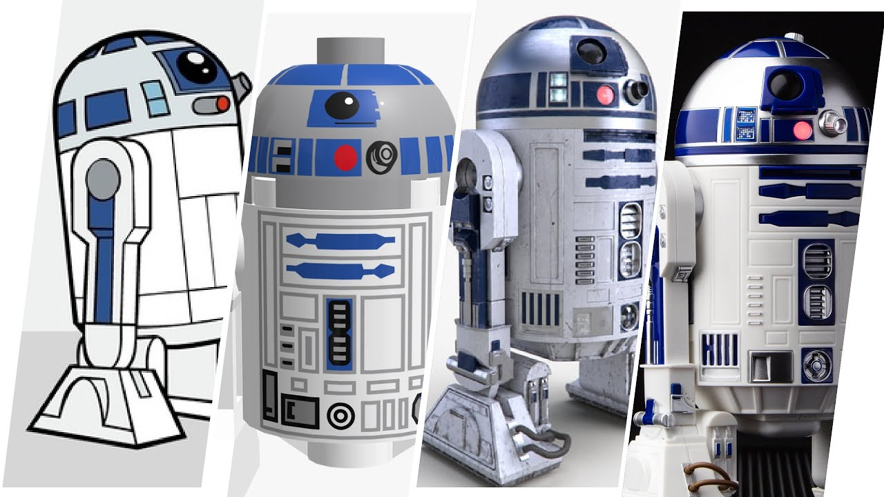 R2D2 Star Wars Evolution In Cartoons, Movies & TV (All Easter Eggs & Cameos)