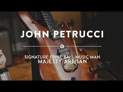 John Petrucci plays his Signature Ernie Ball Music Man Majesty Artisan | Reverb Demo Video