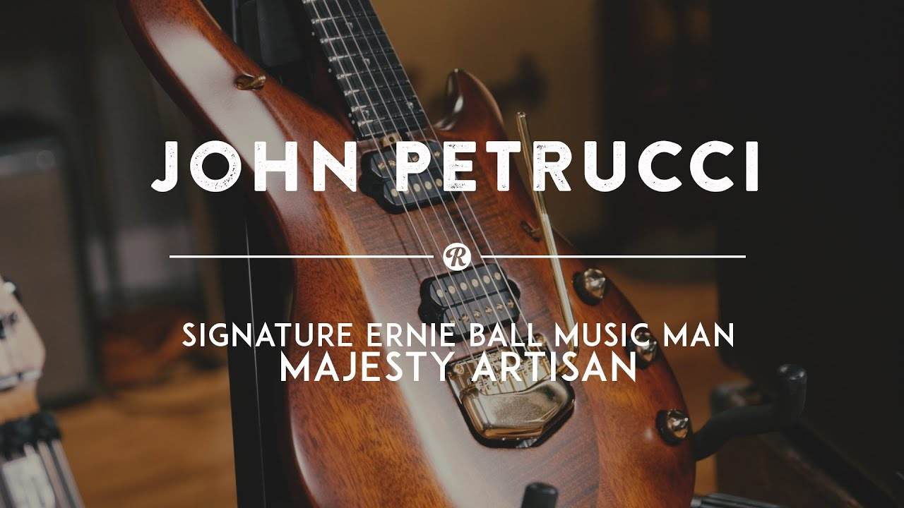 john petrucci plays his signature ernie ball music man majesty