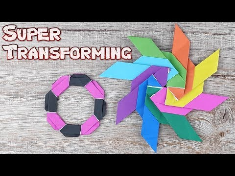 Origami Super Transforming Ninja Star Toys | How To Making Easy Ninja Weapons Tutorial | DIY Weapon