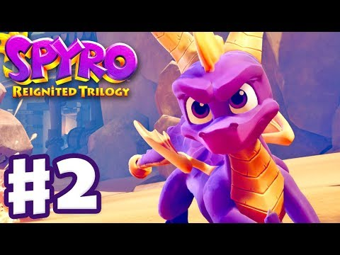 Spyro Reignited Trilogy - Spyro The Dragon - Gameplay Walkthrough Part 2 - Peace Keepers (120%)