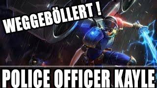 RIOT POLICE KAYLE - LOL Legendary Skin - S6 German Deutsch Season 6 Gameplay