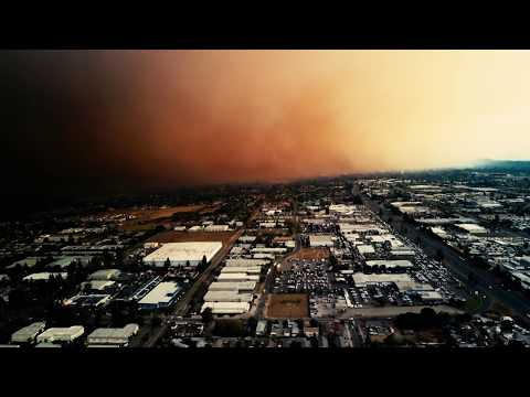 Santa Rosa Fire 4K Drone 2017