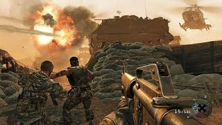 Heavy Base Defense of the US Marines in Vietnam ! FPS Game Call of Duty Black Ops