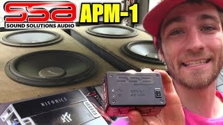 Breaking Matts Loudest SPL Record w/ APM-1 Wireless Bass Meter from SSA | Sound Solutions Audio
