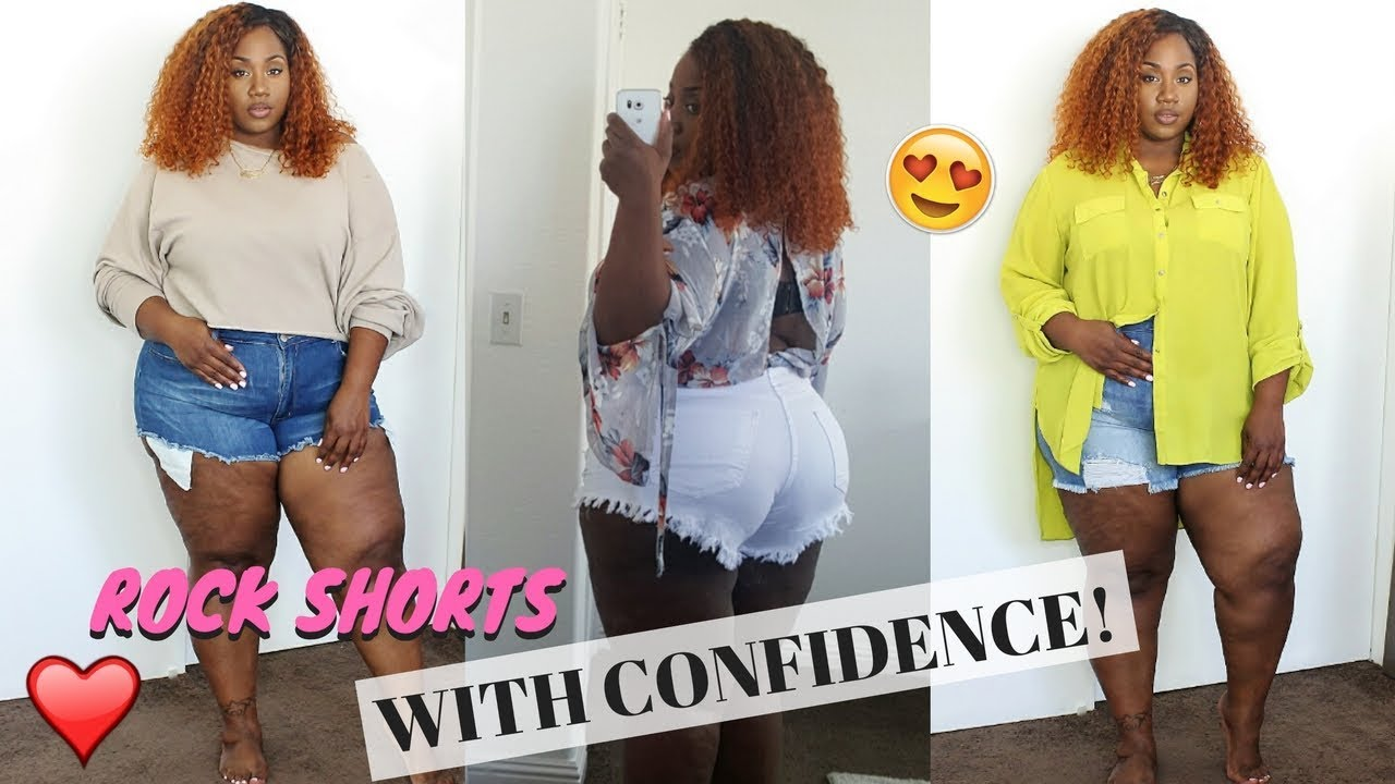 DIMPLES, CELLULITE? PLUS SIZE & WEARING SHORTS! 5 TIPS THAT HELPED ME! | FT. POSHMARK