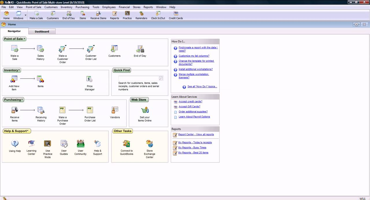 QuickBooks Point of Sales 8.0- Introduction - YouTube