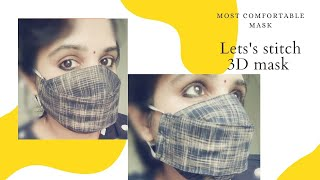 Fight Against Covid-19 - How to stitch a 3D mask at home( Non-Woven cloth mask- DIY )