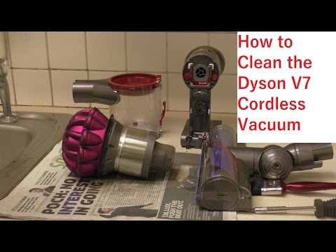 How To Clean The Dyson V7 Cordless Vacuum Cleaner