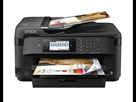 Best Wide Format Printer 2020 Epson WF 7710 Unboxing, Setup and Review   Best wide format