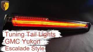 Тюнинг задние фонари Джи Эм Си Юкон / Taillights GMC Yukon Denali