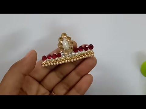 How To Make Adjustable Mukut For laddu Gopal | CraftLas