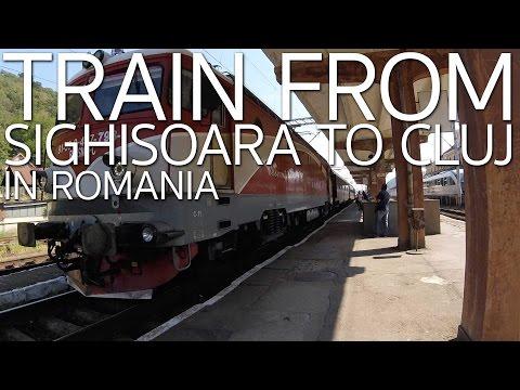 Train from Seghisoara to Cluj-Napoca Romania E031