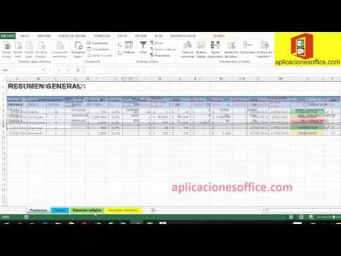 Plantilla Excel préstamo dinero avanzado o paga diario de YouTube · Duración:  13 minutos 20 segundos