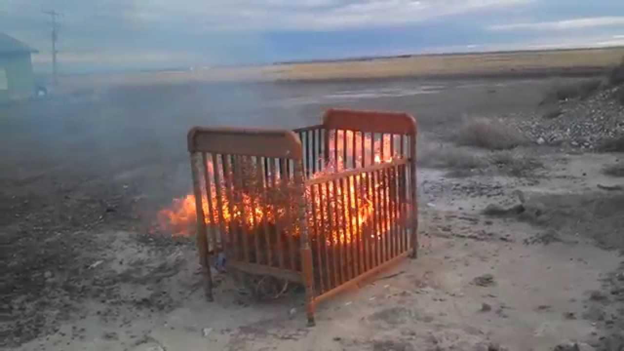Antique Baby Crib Repurposed
