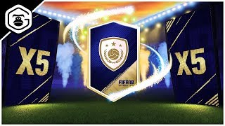 5 GUARANTEED ICON PACKS!!! 89+ ICON PACKED! - FIFA 18 ULTIMATE TEAM