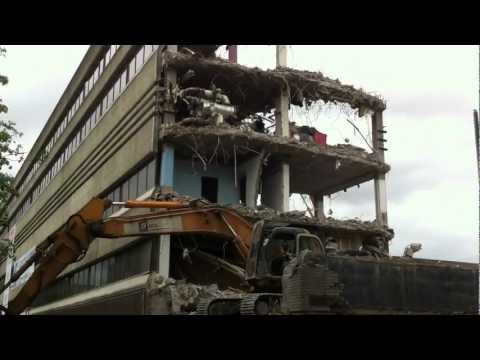 BBC New Broadcasting House Building being demolished August 2012