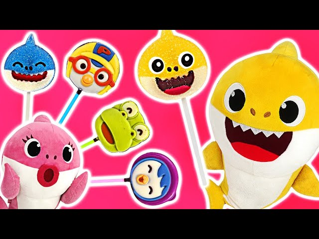 Let's surprise cooking Shark jelly and Pororo chocolate with a playdoh~ #PinkyPopTOY
