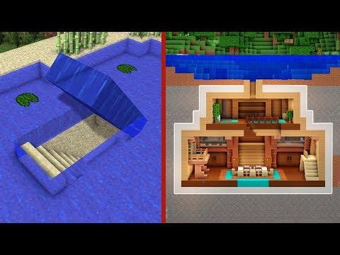 Minecraft: How to Build An Underwater Secret Base Tutorial #2 - (Hidden House)