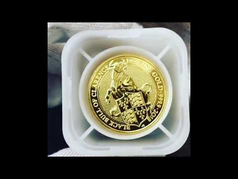 Black Bull Unboxing! 2018 Great Britain 1 oz Gold Queen's Beast Coin .9999 Fine BU