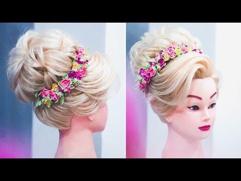 ◉ПРИЧЕСКА ◉ Высокий пучок БЕЗ ПЛОЙКИ !!! ◉ Updo hair tutorial for medium hair. ◉ LOZNITSA