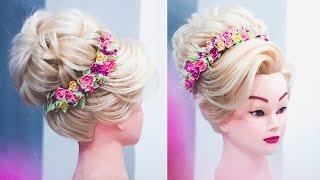 видео Высокие свадебные прически