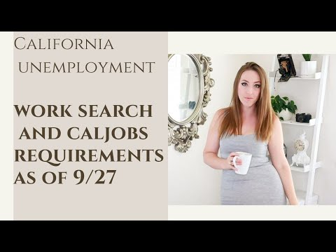 CA EDD Current Requirement - Certifying Looking For Work, Work Search History, Caljobs Resume