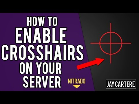 How To Enable The Crosshair On Your Nitrado ARK Server - ARK Survival Evolved PS4 Server Tutorial
