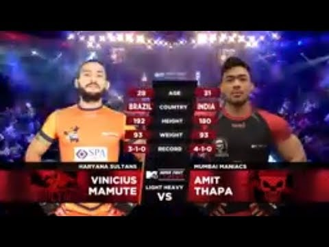 Haryana Sultans Vs Mumbai Maniacs | MTV Super Fight League | Vinicius Mamute Vs Amit Thapa | SFL