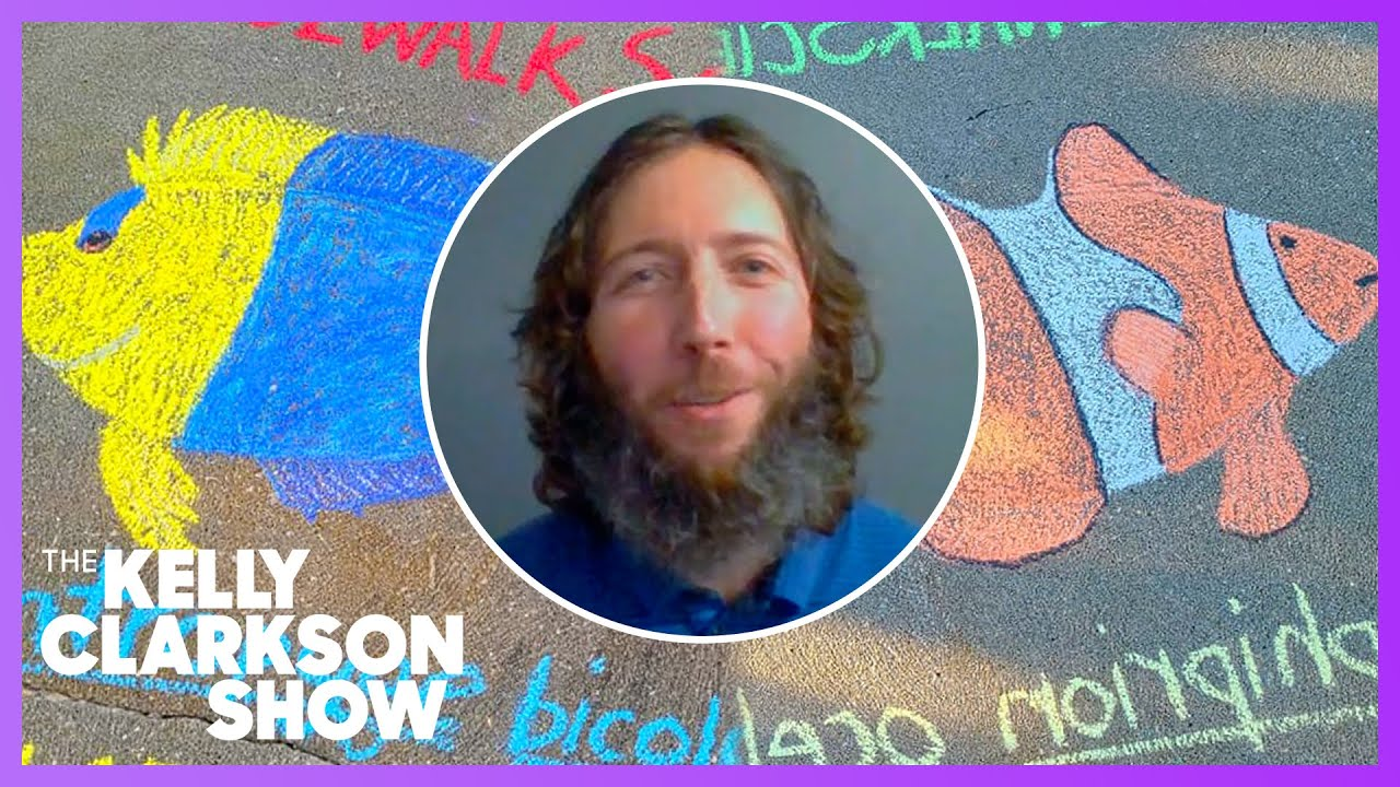 Teacher Shares Marine Biology Facts Through Sidewalk Chalk Drawings