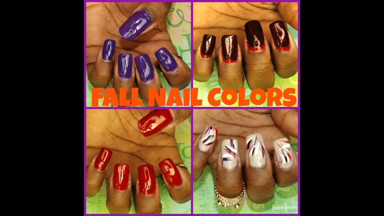 Fall Nail Colors and Designs Nail Art Design || Qualah - YouTube