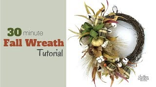 Quick 30 Minute Fall Wreath Tutorial   Southern Charm Wreaths