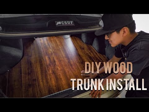 How to Make Your Own Wood Trunk Floor Honda Accord