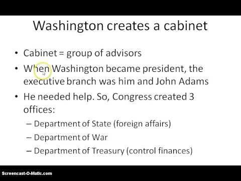 Ch 6 1  Washington Heads New Government (11th Grade American History)