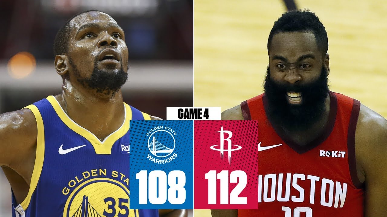 c7a7134db79 James Harden scores 38 as Rockets even series vs. Warriors