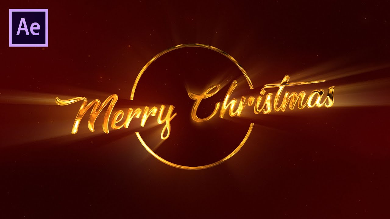 Glossy Christmas Greeting Title in After Effects - After Effects Tutorial