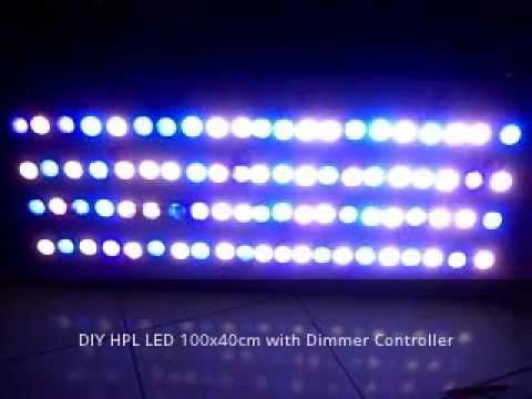 Testing Diy Hpl Led 100x40cm Dimmer Controller Youtube