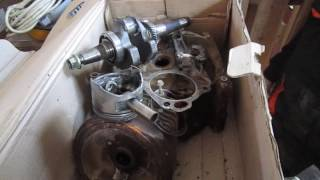 Мотор Honda GX 390, результат работы без масла