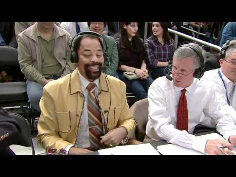 "Walt ""Clyde"" Frazier gets Snickers for his 66th Birthday (Orlando Magic at New York Knicks)"
