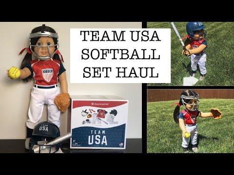 Team USA Softball Set Unboxing! ~American Girl Haul