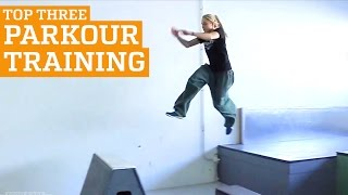 TOP THREE PARKOUR & FREERUNNING GYM TRAINING | PEOPLE ARE AWESOME