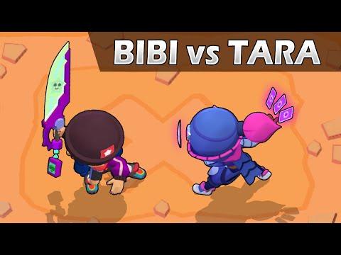 🔥BIBI vs TARA🔥   1vs1   Brawl Stars   Nuevas Skins