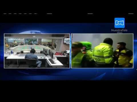 Periodistas de Citytv fueron agredidos por la policía en una estación de Transmilenio
