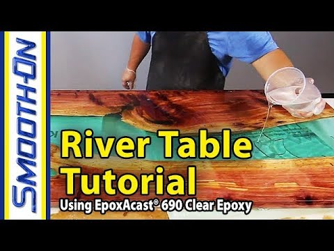 Erstellen Sie einen spektakulären Tisch aus Zedernholz und Epoxidharz