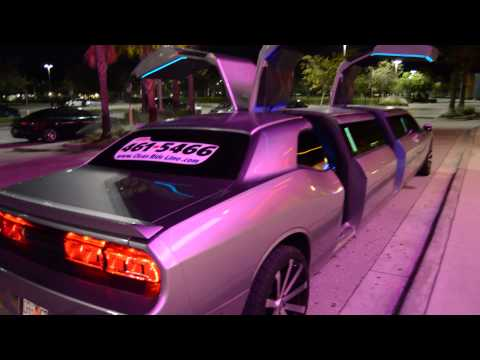 New Dodge Challenger Limo Clean Ride Limo  drive, doors open, interior 2