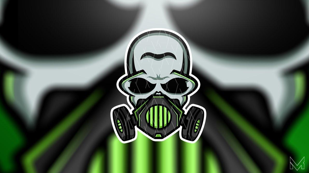 quottoxicquot skull gas mask mascot logo speedart made by