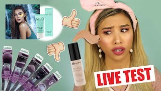 NEUE DROGERIE PRODUKTE IM TEST! l MOY Stefanie Giesinger, BH Cosmetics, Real Techniques l BeautyNews