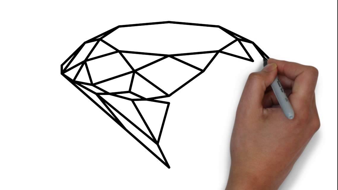 desenhe um diamante zeichnen sie ein diamant youtube. Black Bedroom Furniture Sets. Home Design Ideas